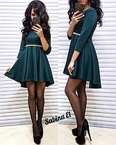 Платье с рукавом с свободной юбкой высокая талия, фото 2