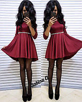 Платье с рукавом с свободной юбкой высокая талия, фото 3