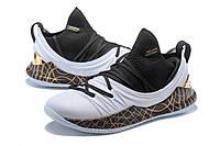 Мужские баскетбольные кроссовки Under Armour Curry 5 (White/Black/Gold), фото 1