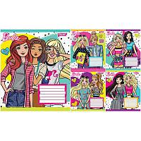 Тетрадь ученическая А5/12 листов в клетку 1В Barbie Trend