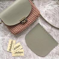 Крышка для сумки из эко-кожи (21*18), цвет серый