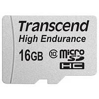 Карта памяти microSD 16GB Class 10 HIgh Endurance (R30,W15 Mbs) Transcend (TS16GUSDHC10V) (с адаптером)