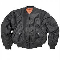 Куртка летная Mil-Tec MA1 нейлон черная