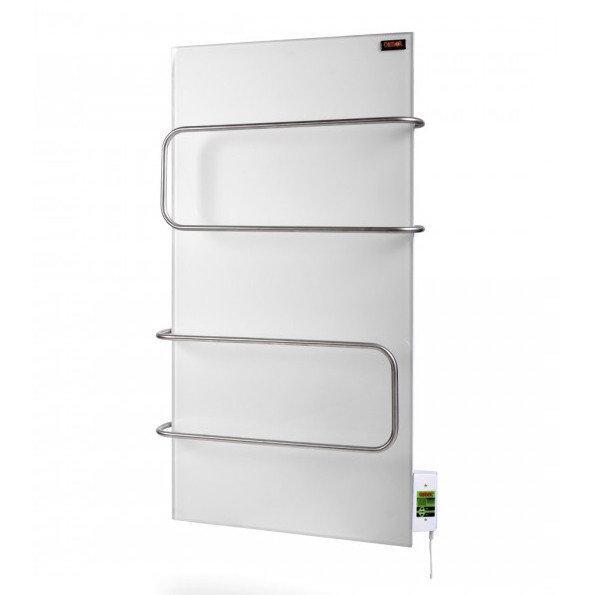Стекло–керамический полотенцесушитель Dimol Maxi 07 U TR с терморегулятором (белый)