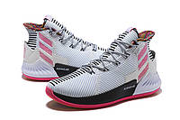 Мужские баскетбольные кроссовки Adidas Rose 9 (White/Black/Pink), фото 1