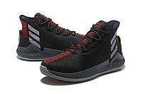Мужские баскетбольные кроссовки Adidas Rose 9 (Black/White/Red), фото 1