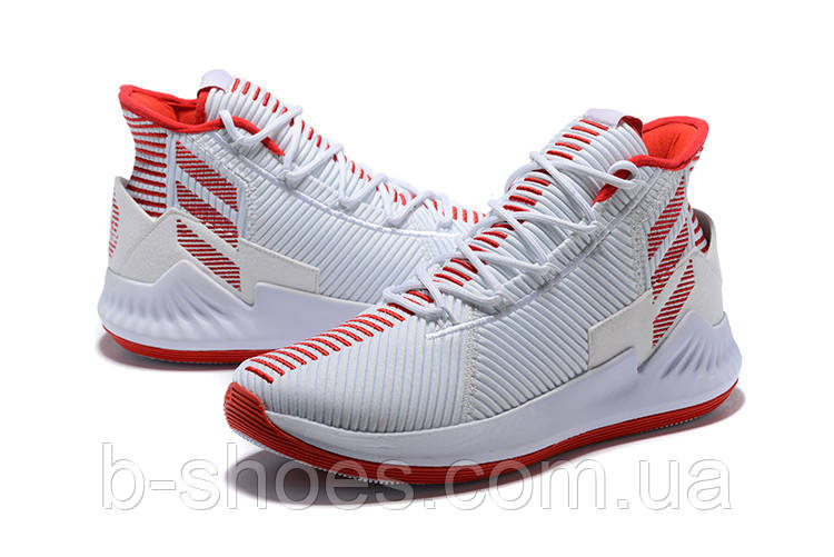 Мужские баскетбольные кроссовки Adidas Rose 9 (White/Red)