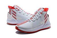 Мужские баскетбольные кроссовки Adidas Rose 9 (White/Red), фото 1