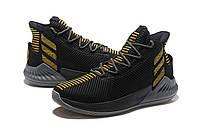 Мужские баскетбольные кроссовки Adidas Rose 9 (Black/Gold), фото 1