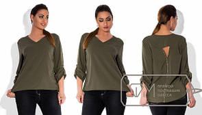 Женская блуза большого размера из креп-шифона в расцветках d-15ba170