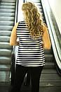Женская летняя полосатая майка в больших размерах с рисунком f-10ba634, фото 2
