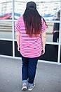 Летняя стильная женская футболка в больших размерах g-10ba678, фото 2
