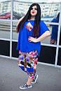 Летний цветочный женский костюм в больших размерах t-10ba681, фото 3