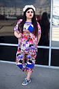 Летний красивый цветочный женский костюм в больших размерах y-10ba682, фото 2