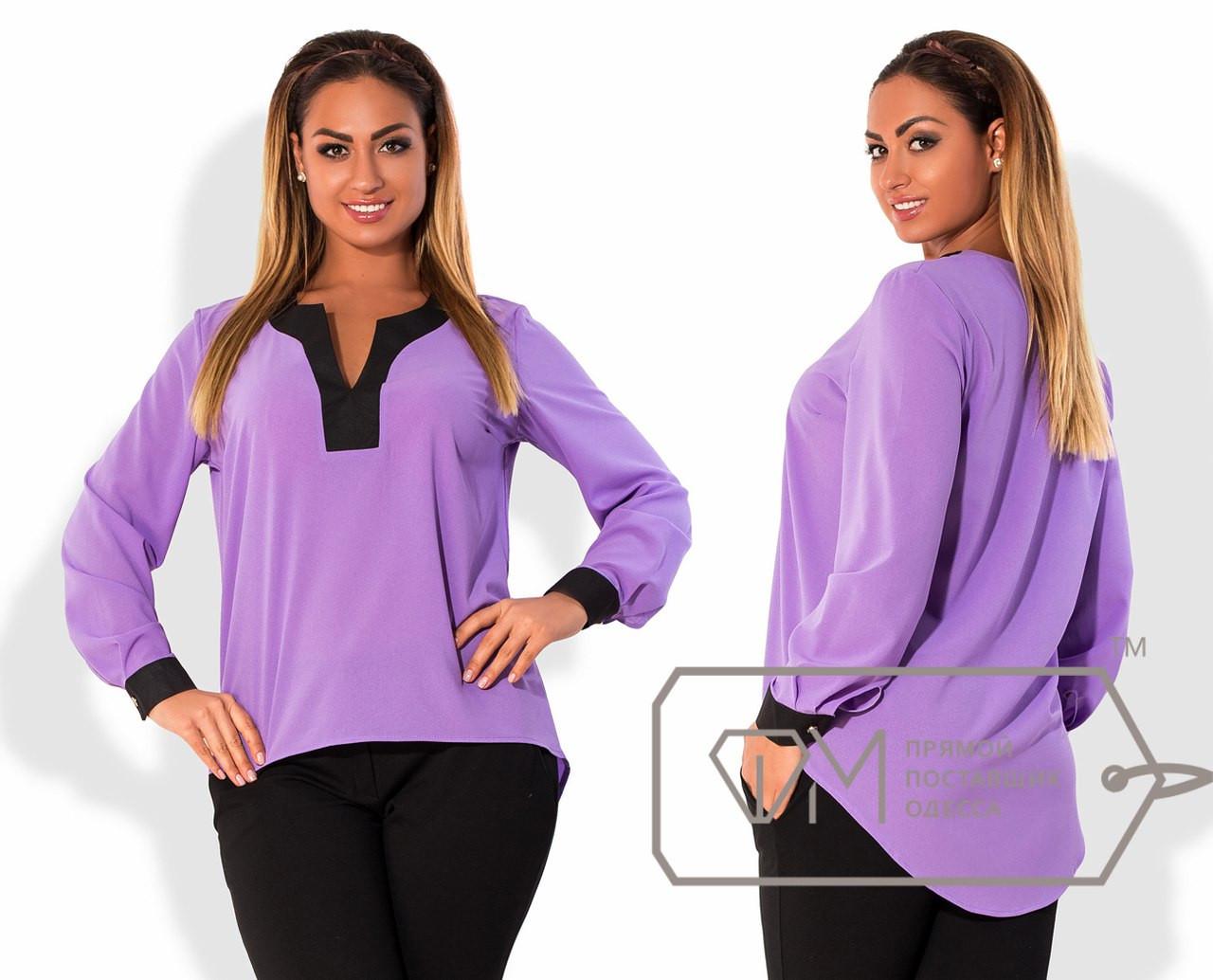 Яркая женская шифоновая блуза в больших размерах t-15ba776