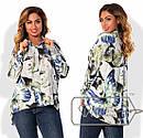 Женская рубашка с принтом в больших размерах t-15ba829, фото 2
