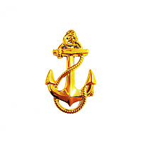 Эмблема Якорь 43 мм (парадная, пластик)