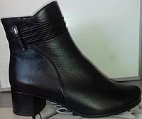 Ботинки демисезонные на устойчивом каблуке из натуральной кожи от производителя модель СВ225-1, фото 1