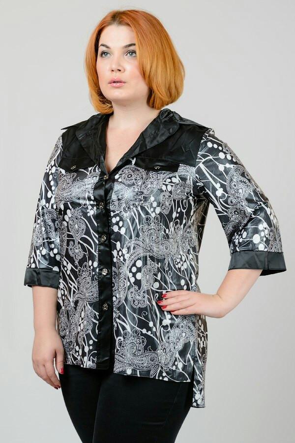 Женская принтованная блуза в больших размерах i-30ba938