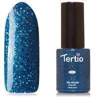Гель-лак Tertio №77 сапфировый с блестками голографик и микроблестками 10 мл