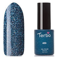 Гель-лак Tertio №78 темно-синий с мелкими голографическими блестками 10 мл