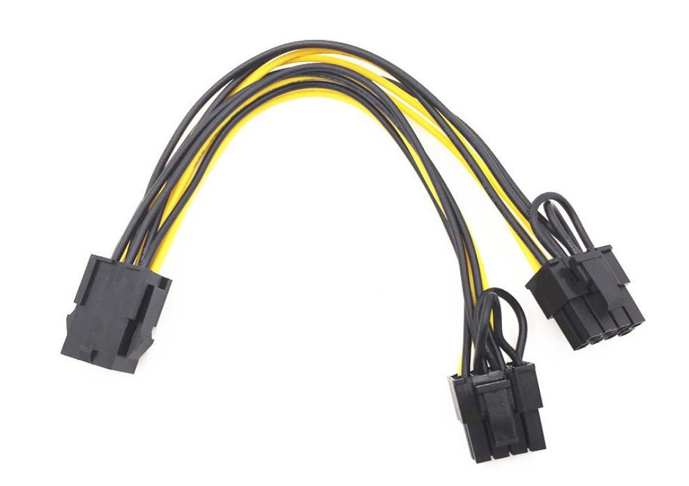 Переходник 6 pin - 2 х 8 pin для видеокарты