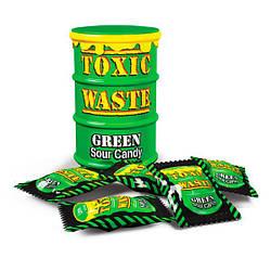 Кислые конфеты Токсик Вейст (Toxic Waste  Color Drums) зеленый