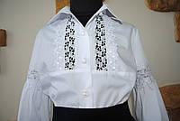 c8bc7fe9355 Белую блузку с кружевом в категории блузки и туники для девочек в ...