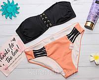 Купальник-бандо от Victoria's Secret со шнуровкой, фото 1