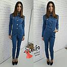 Женский джинсовый комбинезон у-20ks480, фото 3