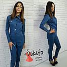 Женский джинсовый комбинезон у-20ks480, фото 5