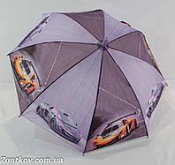 """Детский зонтик трость для мальчика с машинками на 6-9 лет от фирмы """"Feeling Rain""""., фото 1"""