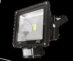 Светодиодный прожектор Ledex 30W-2400lm-6500K-IP65-с датч.движ.-(LX-12738)