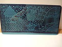 Пластина для стемпинга прямоугольная 6*12 см
