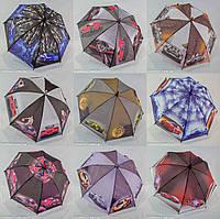 """Детский зонтик трость для мальчика оптом с машинками на 6-9 лет от фирмы """"Feeling Rain""""., фото 1"""