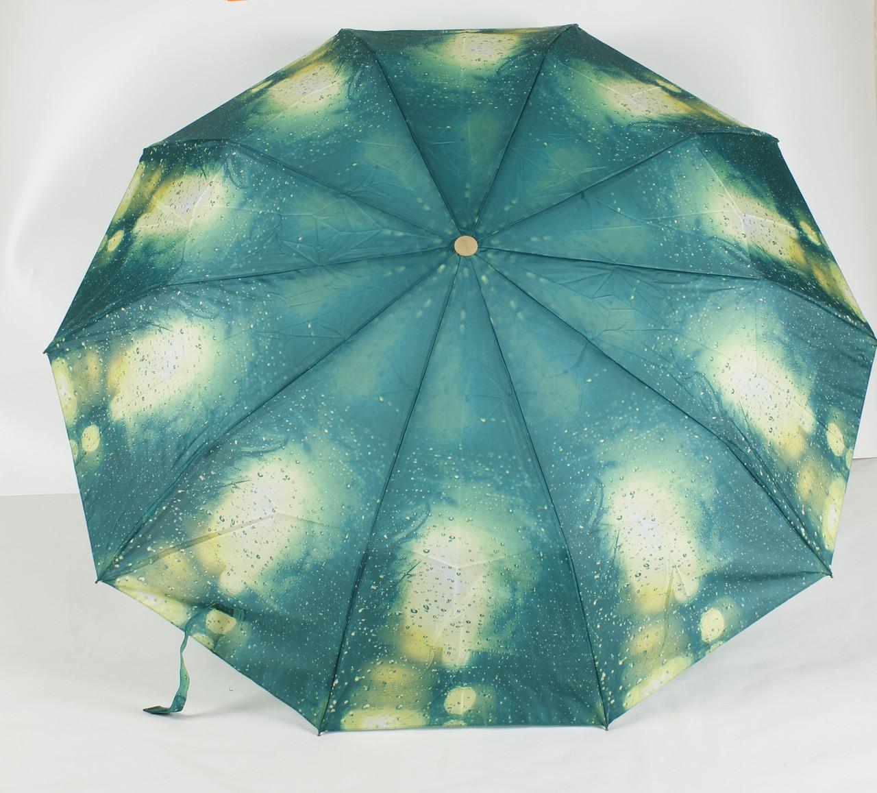 Зонт жіночий механічний 3 складання Calm Rain