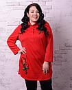 Женская рубашка туника в больших размерах v-t10ba1229, фото 6