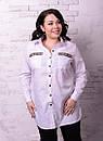 Удлиненная женская рубашка батал в расцветках t-t10ba1234, фото 6