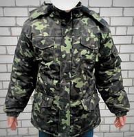 """Куртка военная зимняя """"Бушлат""""камуфляж,черная"""