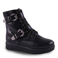 Модные женские ботинки Twenty Two ( кожаные, черные, зимние, на шнуровке, на замке, на пряжке, на платформе)