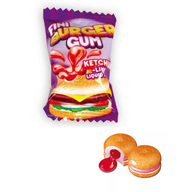 Жевательная резинка Fini Burger Gum жвачка Фини Бургер