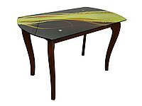 Стол обеденный со стеклянной столешницей ДКС Классик-4 (фотопечать)