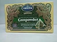 Чай зелений в пакетах пірамідка Twistea Gunpowder 20шт