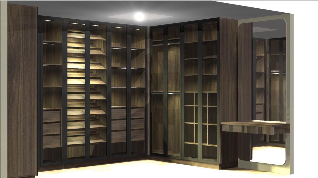 Шкаф в гардеробную с дверями. Гардеробная комната G-0013