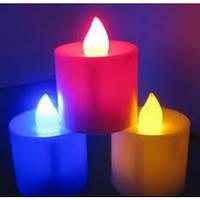 Электронная свеча плавно меняет 7 цветов подсветки