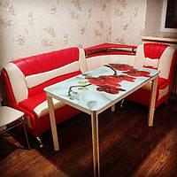 Стол обеденный со стеклянной столешницей ДКС Престиж (фотопечать)