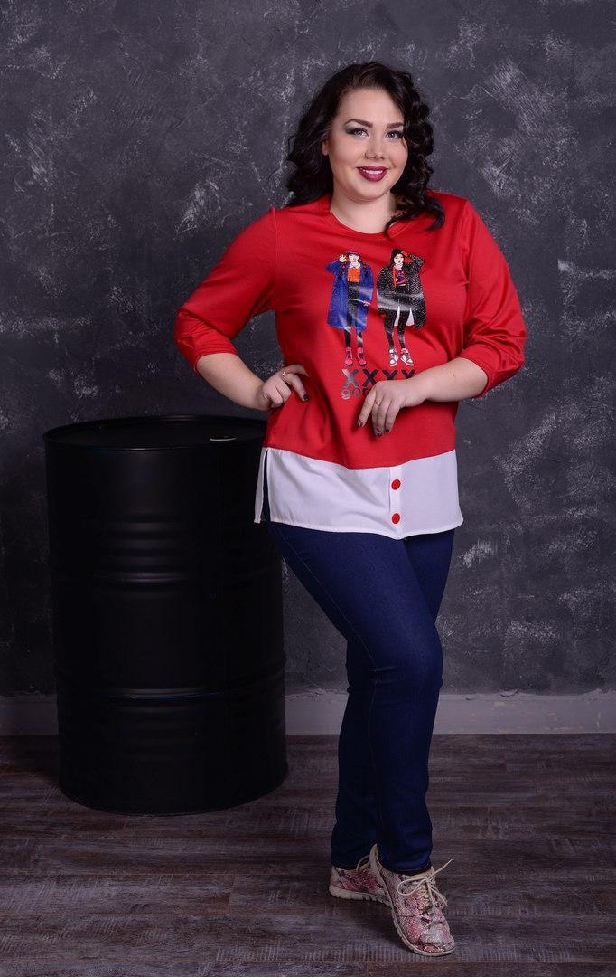 Стильная женская кофта большого размера к-t10ba1305