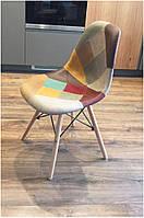 Стул M-30 patchwork, деревянные буковые ножки Charles Eames Style, в стиле лофт, модерн