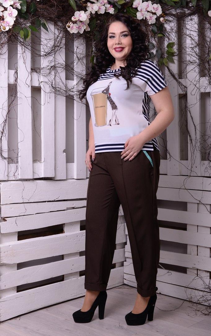 Женская футболка большого размера н-t10ba1309