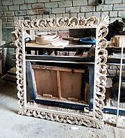 Настенная деревянная рама для зеркала
